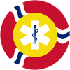 "St. Louis Flag with ""Medical"" symbol inserted."